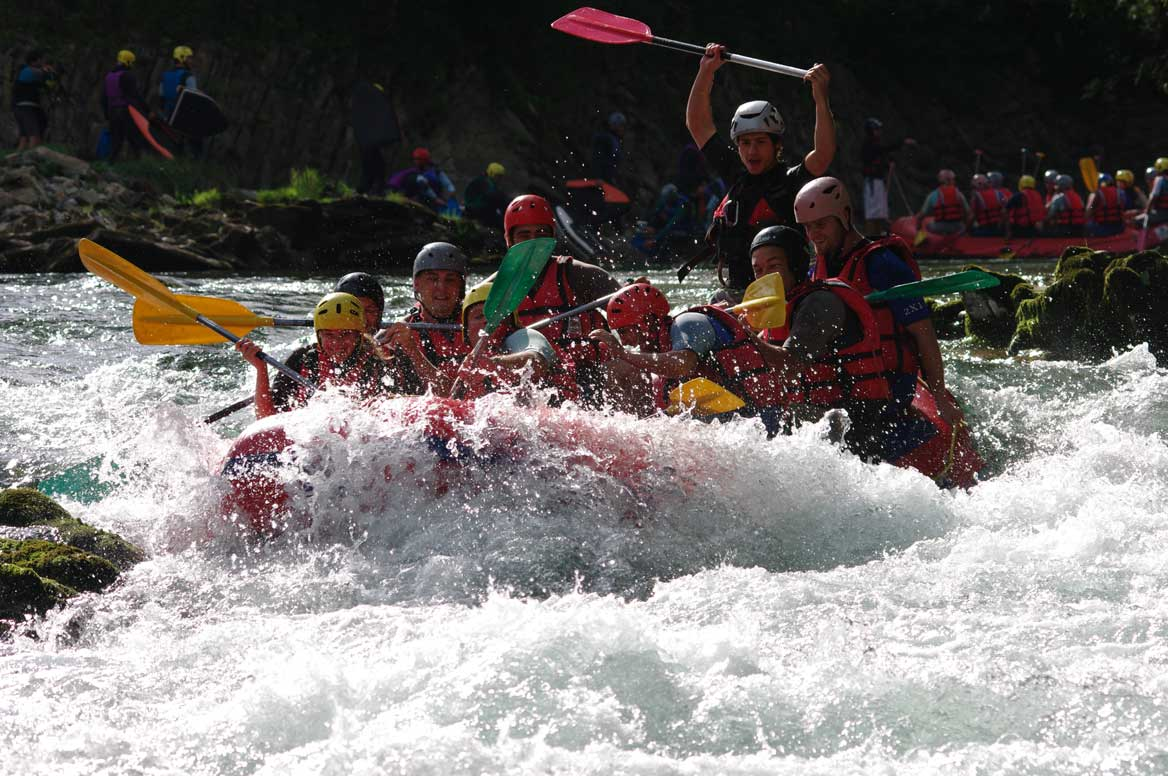 Journée rafting groupe